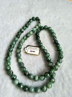 Jadeite necklaces 翡翠花青项链