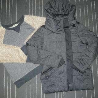 Winter Jacket Free Sweatshirt Size M