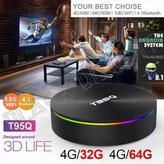 🚚 Latest Model! Lifetime No Subscription: Android OS Oreo 8.1 Android Box T95Q S905X2 4GB RAM 32GB 64GB ROM IPTV S922 S905Y2