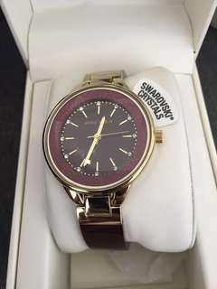 Original Anne Klein Maroon Watch