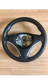 BMW E90/ E92/ E93 Silver Chrome Steering Wheel