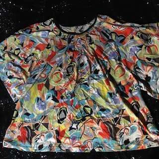 Blouse / baju wanita motif abstrak