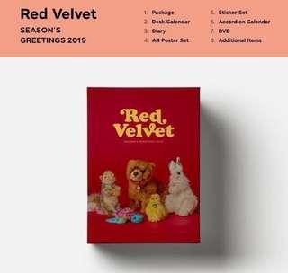 (po) red velvet season greeting 2019