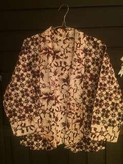 Cardigan batik bolakbalik