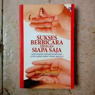 Buku Sukses Berbicara Dengan Siapa Saja