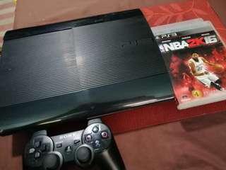 PS3 superslim 500gb black (Not Jailbroken)