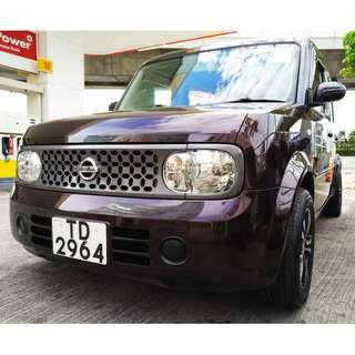 NISSAN CUBE 15M 2007 LIMITED PURPLE