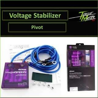 Purple Pivot Voltage Stabilizer with ground cable . Labour available .