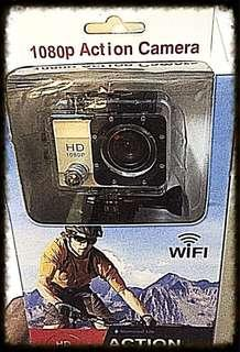 Action Camera HD 1080p, dash camera. Wifi. High quality, sport. New