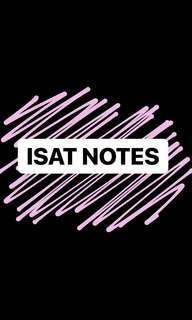 ISAT / UMAT / UKCAT / GMAT / BMAT Questions & Notes