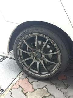 "Advan RZ 18"" Rims with PS4 Tyres"