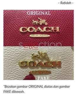 COACH AUTHENTIC VS FAKE 2018