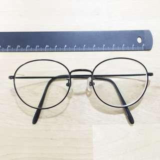🚚 Look Optical Korea - Black Wire Rimmed Round Prescription Spectacles