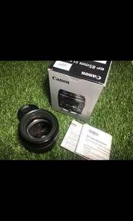 Lensa Canon 85 F18 Very Good Condition