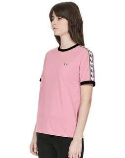 Fred Perry Taped Ringer Tshirt Women