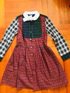 Polo 女童拼接連身裙