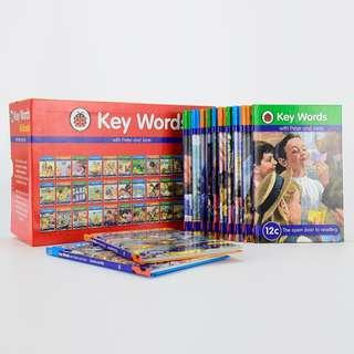 KeyWords with Peter and Jane Box Set 36 Books Hardcover by Ladybird