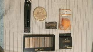 全新$200/6件包平郵 rimmel elf real techniques makeup revolution