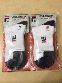 🚚 全新 毛巾底短筒彈性運動襪