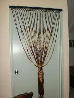 Tirai kayu/buluh