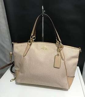 Coach small kelesey jacquard