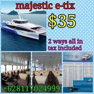 Ferry ticket and Batam Transport