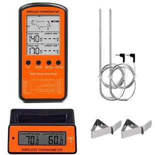 Digital Food Thermometer Daging BBQ Wireless Timer Alarm with Dual Probe - DTH-106