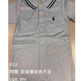(瑕疵貨#22)正貨 RALPH LAUREN baby連身衣 $ 25 件