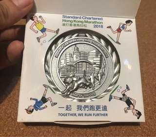 2018 渣打馬拉松 紀念牌