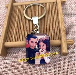 Customize Personalized Crystal Keychain (2 side printing)