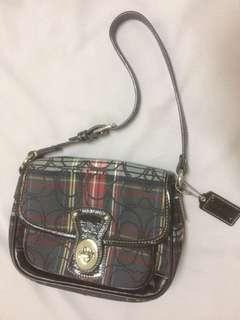 #OCT10 Tartan Plaid Penny Flap Purse/Small Shoulder Handbag