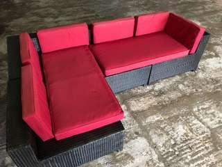 Outdoor patio garden sofa lounger chair