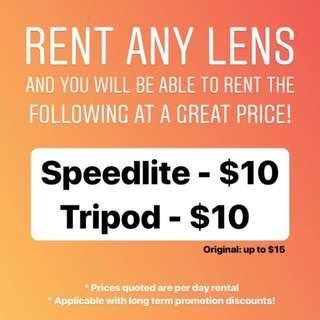 Rent a lens
