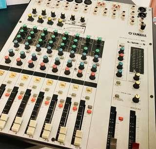 Yamaha MW12C USB Mixer with Compression Come in Original Packaging & 3 Nuetrik XLR Cables