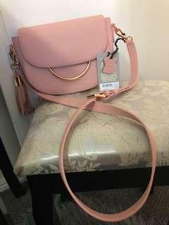 Mila Genuine Leather Saddle Bag