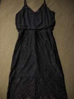 Mirrou Navy Blue Summer Dress