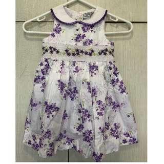 <最後一條>紫白碎花背心裙