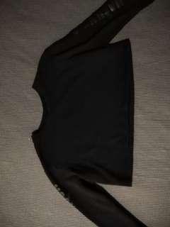 Co. Black Long Sleeved Crop