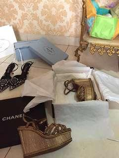 Wadges Chanel original