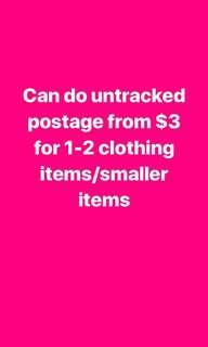 Can do untracked postage cheaply if you're only wanting 1-2 items