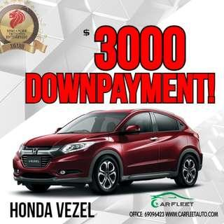 Honda Vezel. $3,000 Downpayment ONLY!! Limited Units! Used Car.