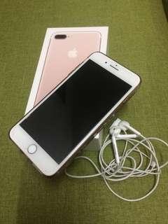 Iphone 7+my rose gold 32gb