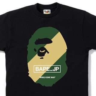 🚚 A Bathing Ape Regimental Tee Size S