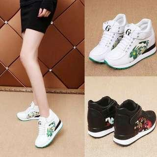 🍃Ladies Embroidered High Cut Sneakers