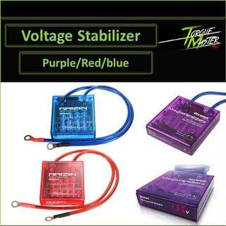 Voltage Stabilizer with ground cable. Labour available. Red/Blue/Purple