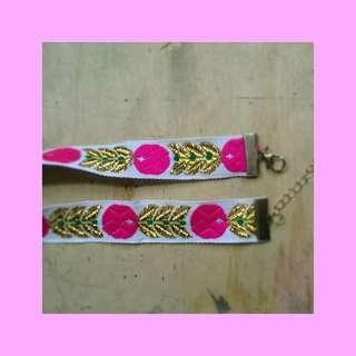 ethnic embroidered choker