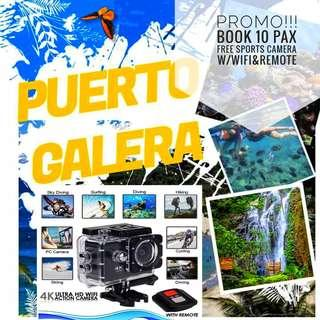 PROMO PUERTO GALERA GROUP OF 10PAX FREE SPORT CAMERA W/ WIFI&REMOTE