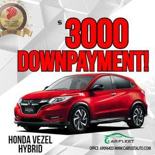 Honda Vezel Hybrid. $3,000 Downpayment ONLY!! Limited Units! Used Car.