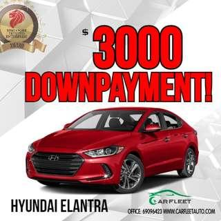 Hyundai Elantra. $3,000 Downpayment ONLY!! Limited Units! Used Car.