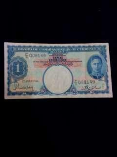 Old currency of malaya